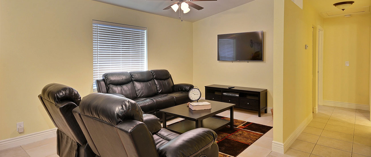 newly furnished living room residential